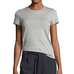 Vince Gray Shortsleeved Scoop Neck Basic T-Shirt